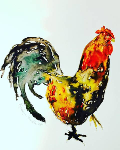 Painting - Essence Of Rooster by Monique Faella
