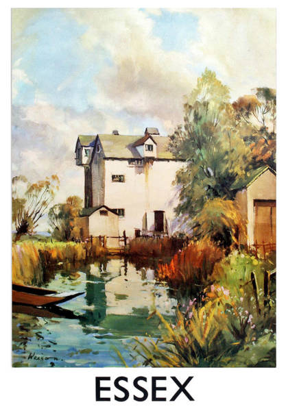 Wall Art - Painting - Essex, England, Travel Poster by Long Shot