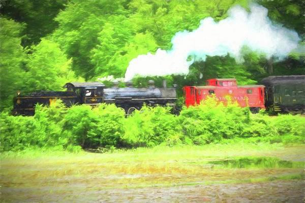 Digital Art - Essex Steam Train by Rusty R Smith