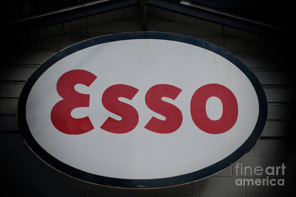 Photograph - Esso Metal Sign by Dale Powell