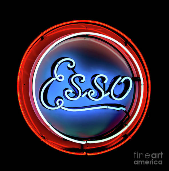 Photograph - Esso Neon Sign by Miles Whittingham