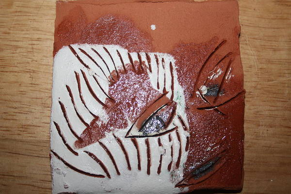 Ceramic Art - Estelle - Tile by Gloria Ssali
