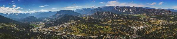 Photograph - Estes Park Aerial Panorama by Andy Konieczny