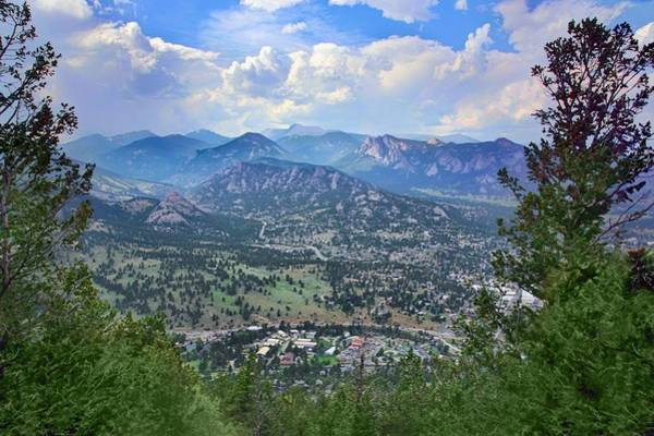 Aerial Tramway Wall Art - Photograph - Estes Park From Prospect Mountain by Nikolyn McDonald