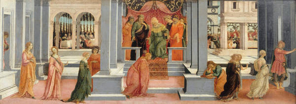 Renaissance Painters Wall Art - Painting - Esther Chosen By Ahasuerus by Filippino Lippi