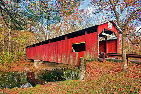 Wall Art - Photograph - Esther Furnace Covered Bridge by Marcia Colelli