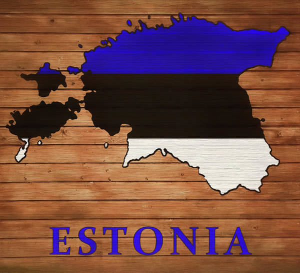 Traveler Mixed Media - Estonia Rustic Map On Wood by Dan Sproul