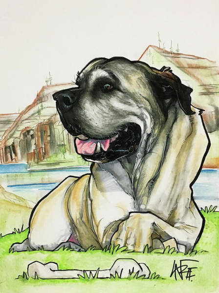 Pet Portrait Drawing - Estrada 3133 by John LaFree