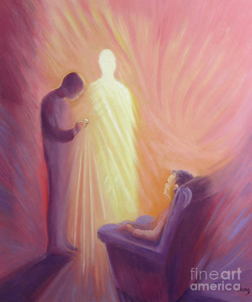 Sacrament Wall Art - Painting - Jesus Christ Comes To Us In Holy Communion by Elizabeth Wang
