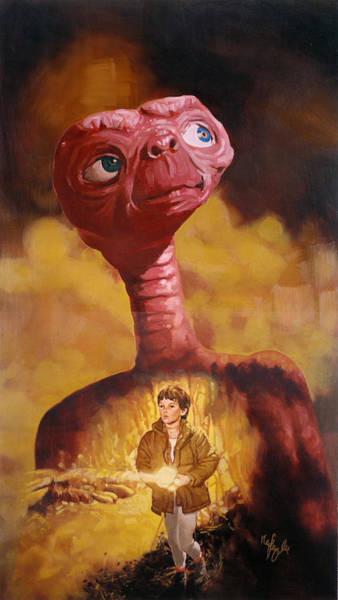 Steven Spielberg Painting - E.t. The Extra-terrestrial by Neil Feigeles