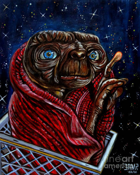 Steven Spielberg Painting - Et The Extraterrestrial by Jose Mendez