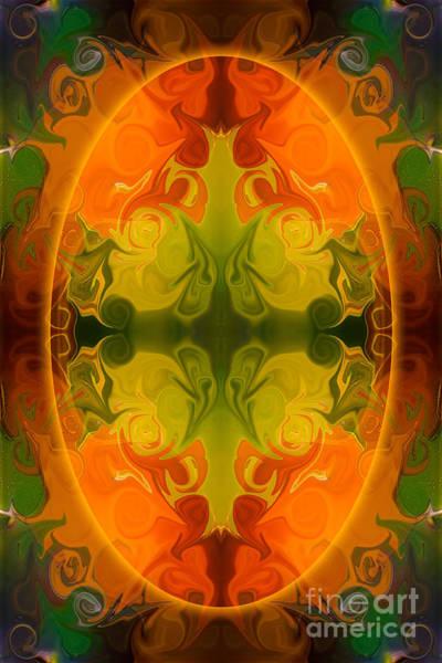 Digital Art - Eternal Energies Abstract Mandala Art By Omashte by Omaste Witkowski