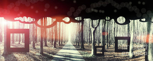 Photograph - Eternity, Conceptual Background by Ariadna De Raadt