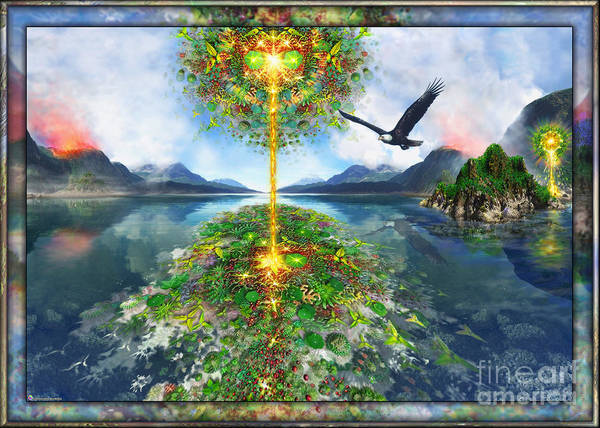 Digital Art - Etheric Lake by Leonard Rubins
