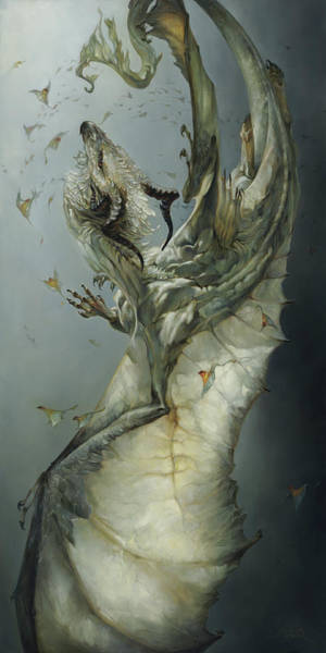 Dragon Fly Painting - Etherium by Heather Theurer