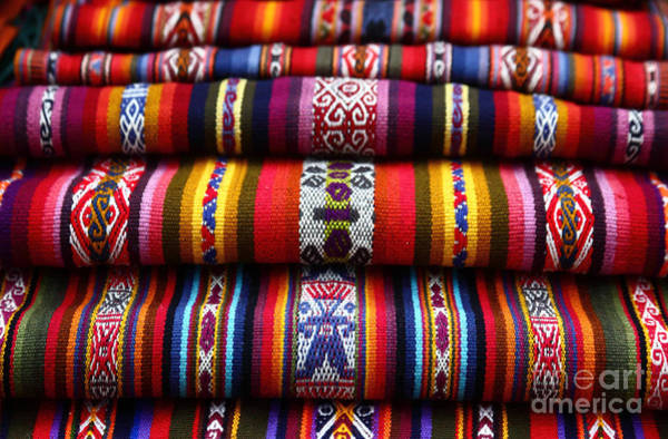 Photograph - Ethnic South American Weavings by James Brunker