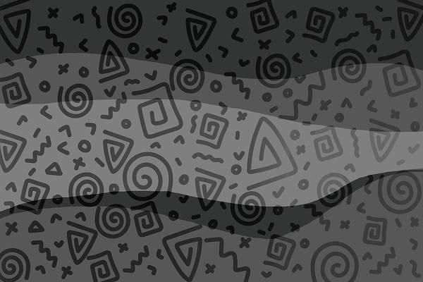 Aztec Digital Art - Ethno Pattern Modern - Grey by Melanie Viola