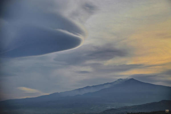 Photograph - Etna Clouds by John Meader