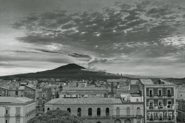 Photograph - Etna View From Catania by Bruno Spagnolo