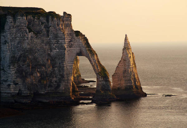 Photograph - Etretat In Morning Sun by Jaroslaw Blaminsky