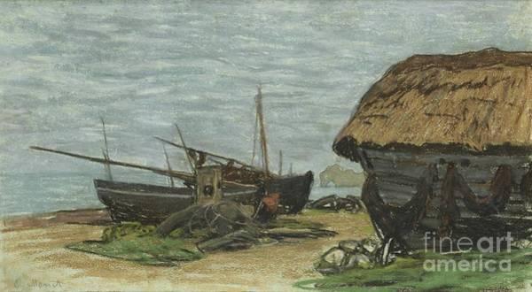 Painting - Etretat, Le Perrey, La Porte D'amont by Celestial Images
