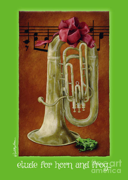 Painting - Etude For Horn And Frog... by Will Bullas