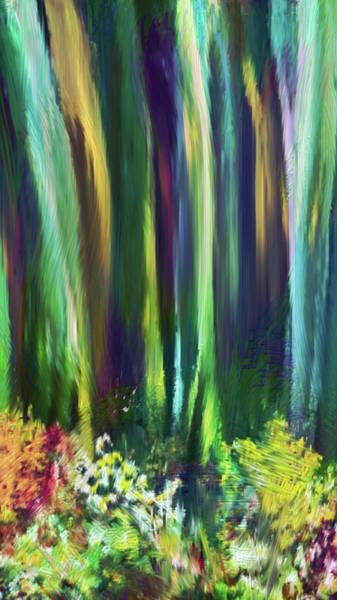 Wall Art - Mixed Media - Eucalyptus And Flowers by Karen Nicholson