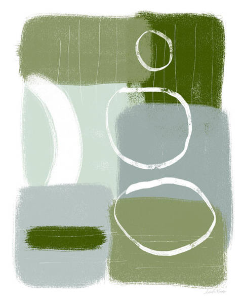 Mid Wall Art - Mixed Media - Eucalyptus Breeze  2- Art By Linda Woods by Linda Woods