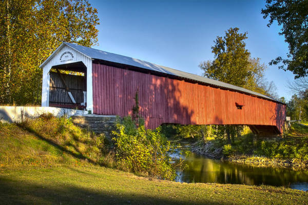 Photograph - Eugene Covered Bridge by Jack R Perry