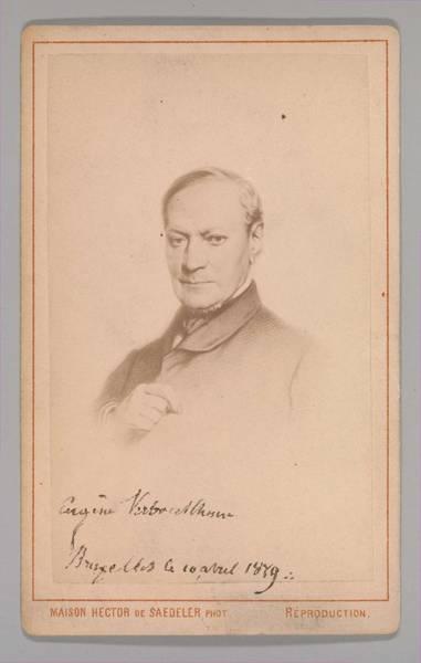 Painting - Eugene Joseph Verboeckhoven  By Hector De Saedeler Belgian, Active 1860s by Artistic Panda