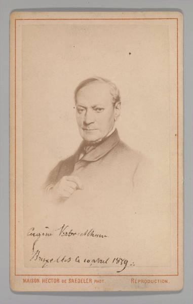 Eugene Joseph Verboeckhoven Painting - Eugene Joseph Verboeckhoven by Hector de Saedeler