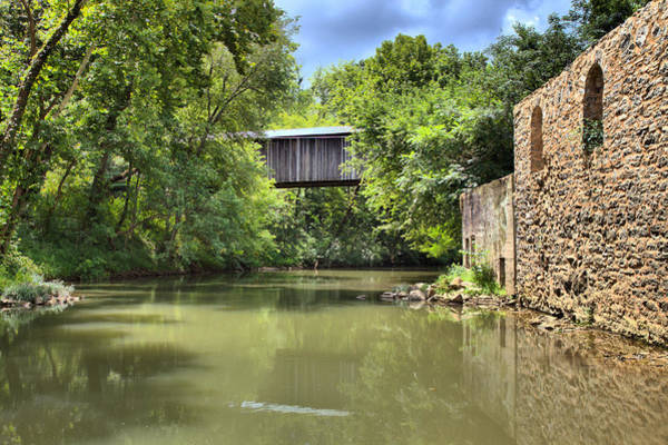 Photograph - Euharlee Creek Bridge And Mill by Gordon Elwell