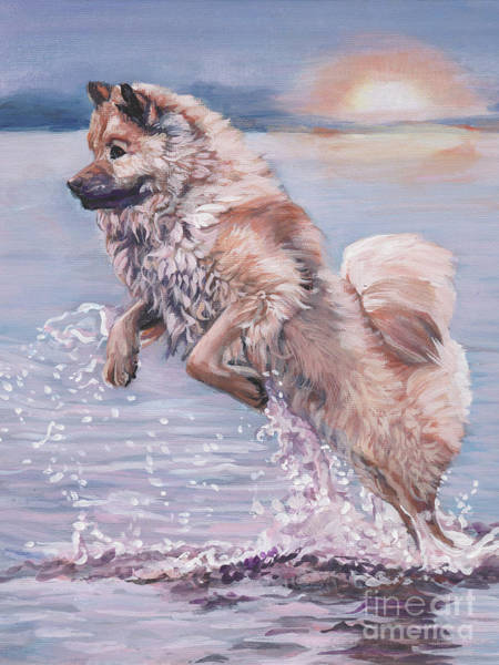 Wall Art - Painting - Eurasier In The Sea by Lee Ann Shepard