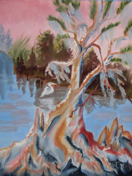 Eureka Painting - Eureka  Cypress On The Ocklawaha River  by Warren Thompson