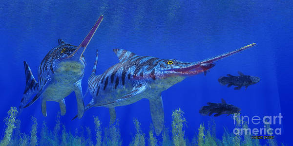 Wall Art - Painting - Eurhinosaurus Jurassic Ocean by Corey Ford