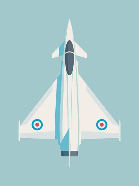 Military Wall Art - Digital Art - Typhoon Jet Fighter Aircraft - Sky by Ivan Krpan