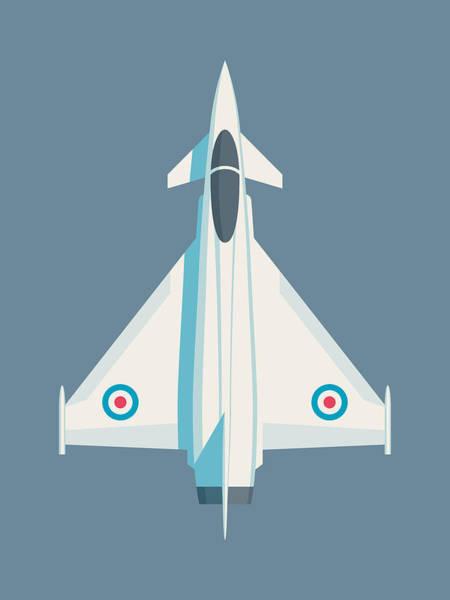 Military Wall Art - Digital Art - Typhoon Jet Fighter Aircraft - Slate by Ivan Krpan