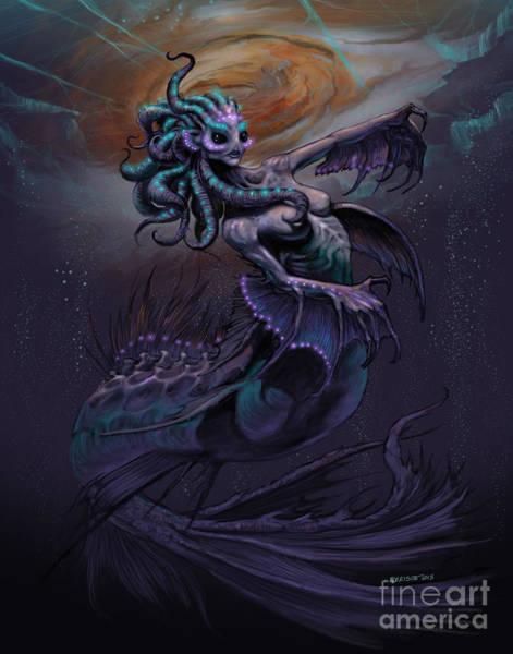 Outer Space Digital Art - Europa Mermaid by Stanley Morrison
