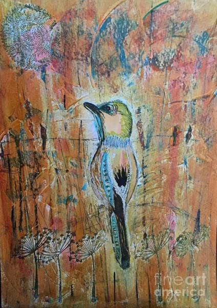 Bird Watercolor Mixed Media - European Jay by Nancy TeWinkel Lauren
