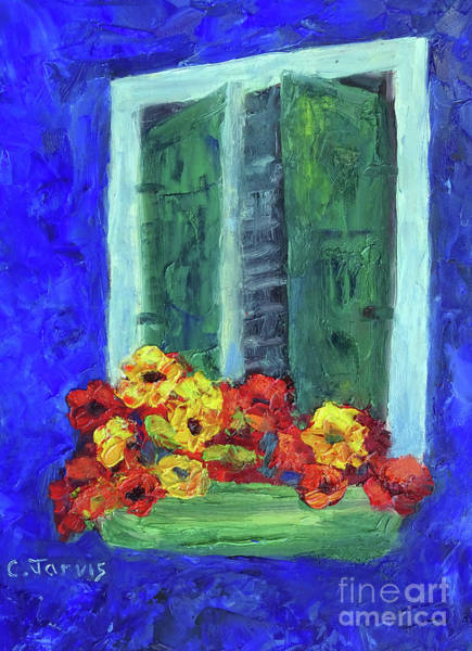 Painting - European Window Box by Carolyn Jarvis