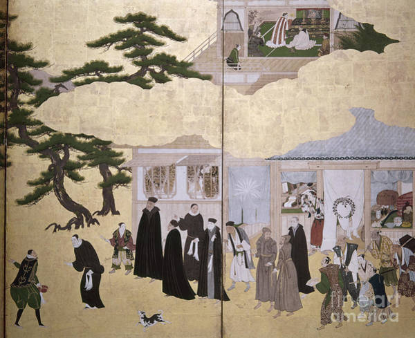 Painting - Europeans In Japan, C1600 by Granger