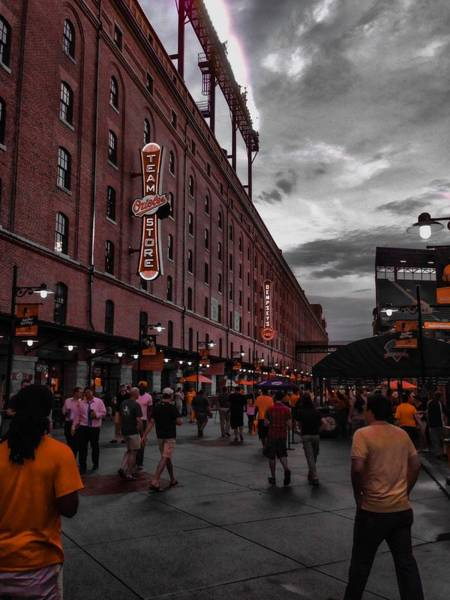 Photograph - Eutaw Street by Chris Montcalmo
