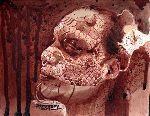 It Professional Painting - Eva Medusa - Lizard Woman by Ryan Almighty