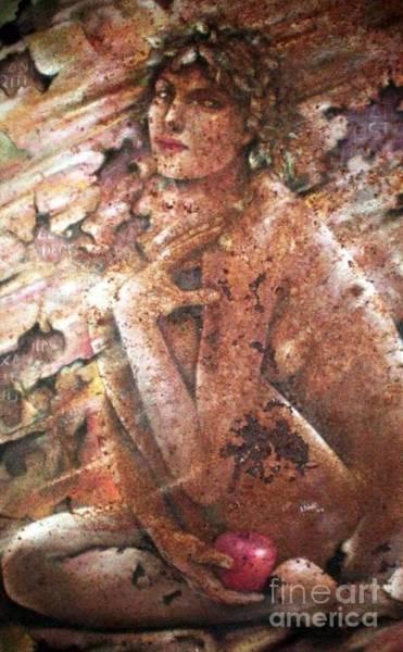 Manzana Wall Art - Painting - Eva Tierra by Jesus Alberto Arbelaez Arce