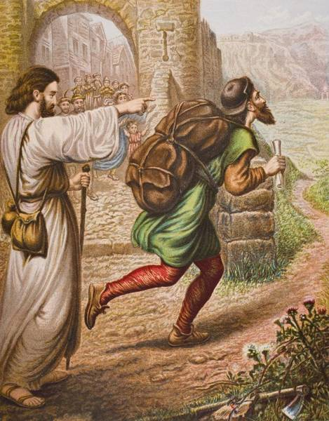 Wall Art - Drawing - Evangelist Directs Christian On His by Vintage Design Pics