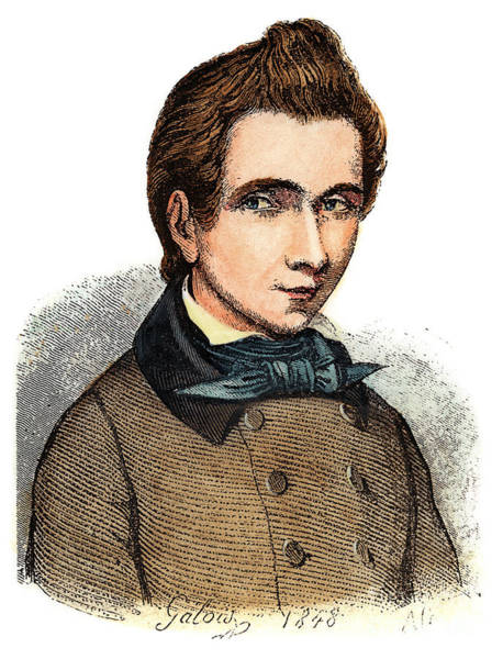 Drawing - Evariste Galois by Granger
