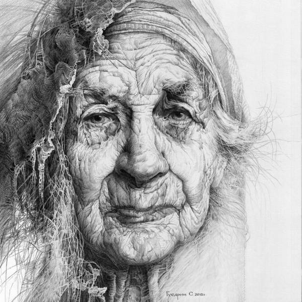 Drawing - Eve. Series Forefathers by Sergey Gusarin