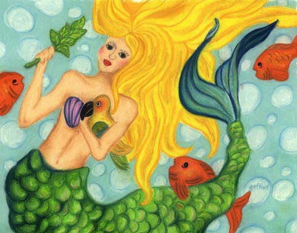 Painting - Eve The Mermaid by Norma Gafford
