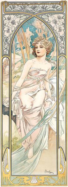 Alphonse Mucha Painting - Eveil Du Matin by Alphonse Marie Mucha