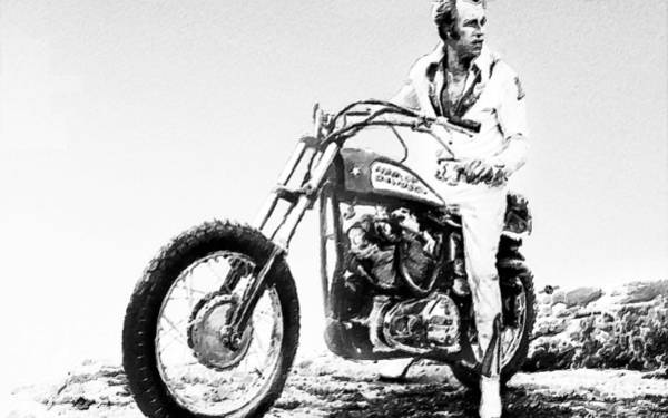 Painting - Evel Knievel Painting Black And White by Tony Rubino